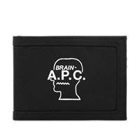 A.P.C. X Brain Dead Card Holder Black