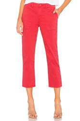 Sanctuary Peace Crop Chino Pant Red