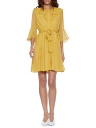 Walter Baker Zoey Bell Sleeve Dress Mustard