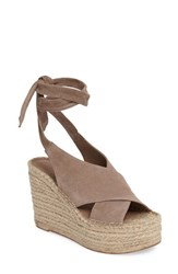 Marc Fisher Women's Ltd Andira Platform Wedge Sandal Taupe Suede