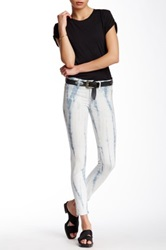 Fidelity Printed Skinny Ankle Jean White
