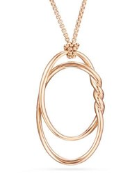 David Yurman 47Mm Continuance 18K Rose Gold Pendant Necklace