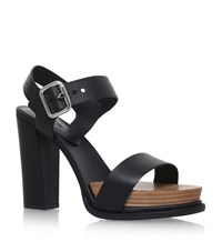 Tod's Gomma Ankle Strap Heels Female Black
