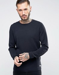 Only And Sons Waffle Knit Jumper Navy
