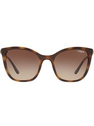 Vogue Eyewear Oversized Tinted Sunglasses Brown