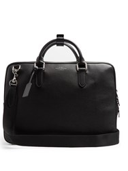 Smythson Burlington Grained Leather Briefcase Black