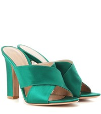 Gianvito Rossi Satin Sandals Green