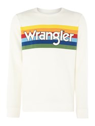Wrangler Men's Rainbow Logo Sweatshirt Off White