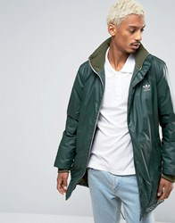 Adidas Originals Fallen Future Parka Jacket In Khaki Br1812 Green