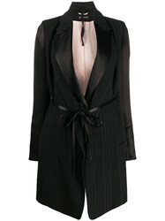 Ann Demeulemeester Striped Belted Coat 60