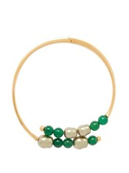 Peter Pilotto Beaded Hinged Choker Necklace Green