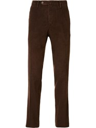 Pt01 Washed Corduroy Slim Trousers Brown