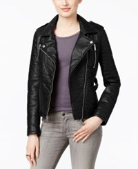 Rachel Roy Faux Leather Motorcycle Jacket Only At Macy's Black