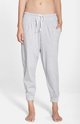 Women's Dkny Pima Cotton Jersey Joggers Light Grey Heather