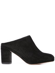 Soludos Ribbed Design Mules Black