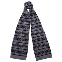 Barbour Martingale Fair Isle Lambswool Scarf Grey