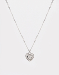 Lipsy Heart Silhouette Necklace Gold