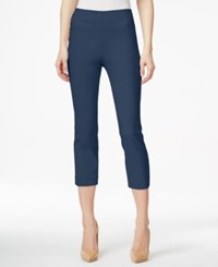 Style And Co Petite Pull On Capri Pants Only At Macy's New Uniform Blue
