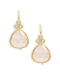 Tai Faceted Stone Drop Earrings Pink