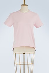 Thom Browne T Shirt With Back Stripe Lt Pink
