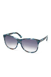 M Missoni Women's Wayfarer Acetate Frame Sunglasses Blue