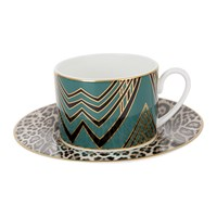 Roberto Cavalli Deco Teacup And Saucer