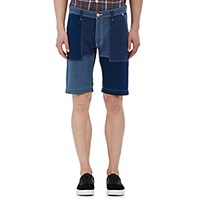Fdmtl Men's Denim Patchwork Shorts Blue