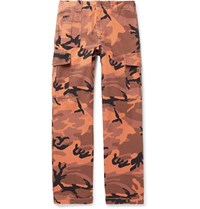 Mcq By Alexander Mcqueen Camouflage Print Cotton Canvas Cargo Trousers Orange
