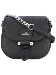 Hogan Chain Detail Crossbody Bag Women Calf Leather One Size Black