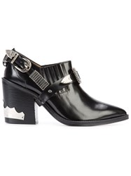 Toga Pulla Buckled Ankle Boots Women Leather 37 Black