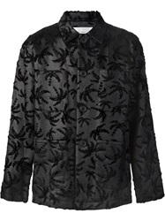 Julien David Palmtree Embossed Jacket Black