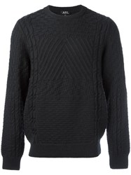 A.P.C. Crew Neck Jumper Grey