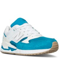 New Balance Women's 530 Summer Waves Casual Sneakers From Finish Line Teal White