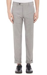 Brooklyn Tailors Worsted Wool Trousers Grey Size 4 42 Us