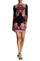 Donna Morgan Print Matte Jersey Dress Black