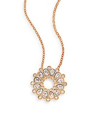 Asset Swarovski Crystal Pendant Necklace Rose Gold
