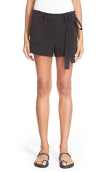 Women's Helmut Lang Patch Pocket Cotton Shorts Black