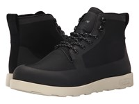 Native Fitzroy Jiffy Black Bone White Lace Up Boots
