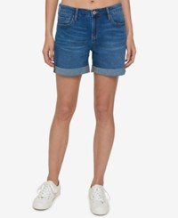 Tommy Hilfiger Cuffed Shorts Created For Macy's Canyon Blue