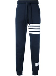 Thom Browne 4 Bar Half And Half Sweatpants Blue