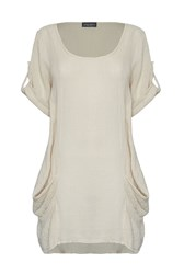 James Lakeland Linen Tunic Beige