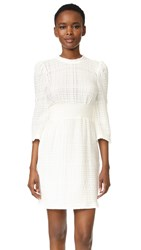 Derek Lam Embroidered Dress With Puff Shoulders Soft White