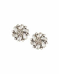 Lydell Nyc Mixed Crystal Button Earrings