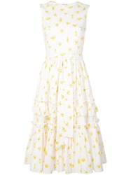 Carolina Herrera Printed Tiered Ruffled Dress 60