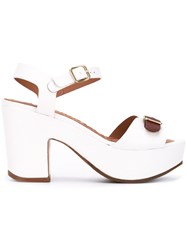 Chie Mihara Fasharomy Platform Sandals Women Calf Leather Leather Rubber 36.5 White