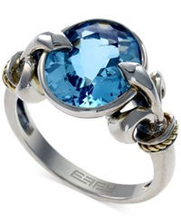Effy Collection Balissima By Effy Blue Topaz Fleur De Lis Ring In 18K Gold And Sterling Silver 6 1 5 Ct. T.W.