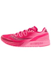 Saucony Freedom Iso Neutral Running Shoes Red Berry