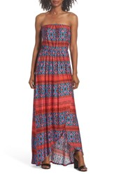 Felicity And Coco Strapless High Low Dress Moroccan Sunrise