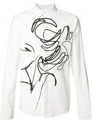 Private Stock Abstract Print Shirt White
