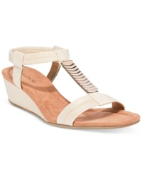Alfani Women's Vacay Wedge Sandals Women's Shoes Light Gold